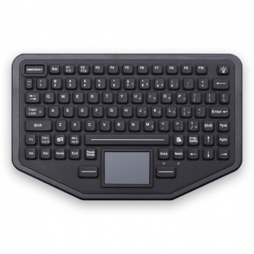 iKey | SL-86-911-TP-FL - Mountable Rugged Keyboard with Integrated Touchpad