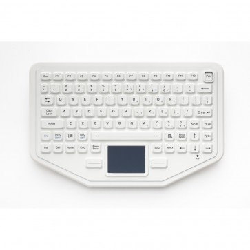 iKey | BT-80-WHITE  - Rugged Ultra Compact Bluetooth Wireless Keyboard for Tablets