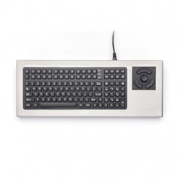 iKey | DT-2000 - Desktop Stainless Steel Keyboard with HulaPoint