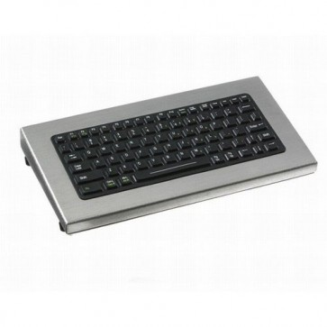 iKey | DT-81 - Small Footprint Desktop Industrial  Keyboard with HulaPoint and Stainless Steel Case