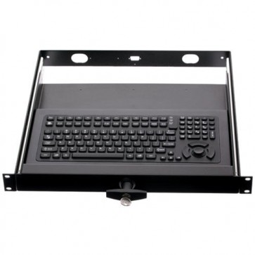"iKey | RDC-5K - 17"" Rackdrawer with Full Size Industrial Keyboard and Integrated HulaPoint"