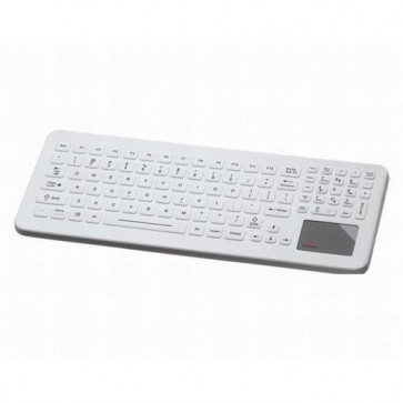 iKey | SLK-102-TP-FL - Cleanable Sealed Medical Keyboard with Integrated Backlighting and Touchpad