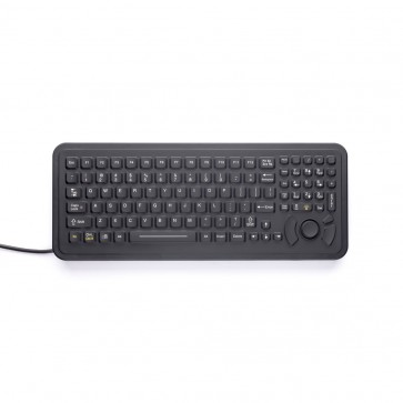 iKey | PM-102 - Full-Size Panel Mount Industrial Keyboard with HulaPoint Pointing Device