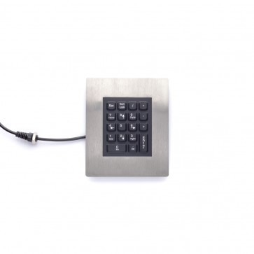iKey | PM-18 - 18 Key Panel Mount Numeric Keypad with Stainless Steel Bezel