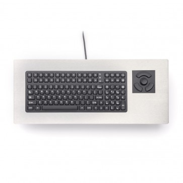 iKey|PM-2000-FSR Industrial Panel Mount Keyboard with Force Sensing Resistor and Stainless Steel Bezel