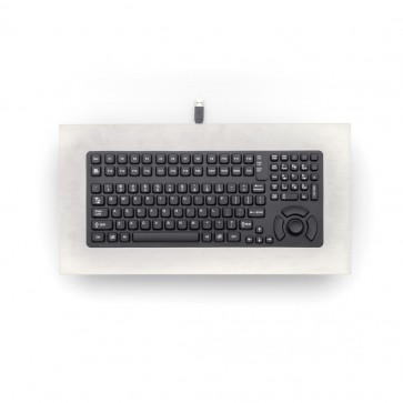 iKey|PM-5K-FSR Industrial Panel Mount Keyboard with Force Sensing Resistor and Stainless Steel Bezel