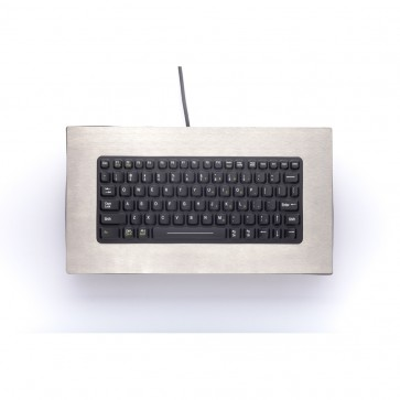 iKey | PM-81 - Compact Panel Mount Keyboard with Stainless Steel Bezel