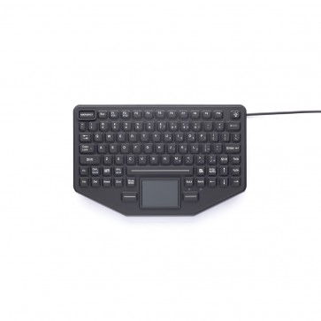 iKey | SL-86-911-TP - Compact Rugged Keyboard with Emergency Key and Integrated Touchpad