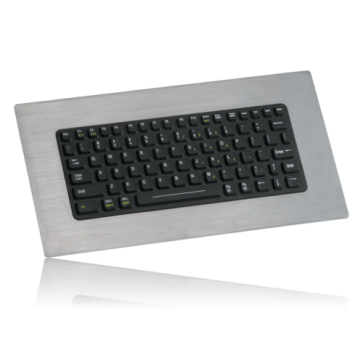 iKey | SLP-81 - Compact Backlit Industrial Keyboard with Stainless Steel Bezel