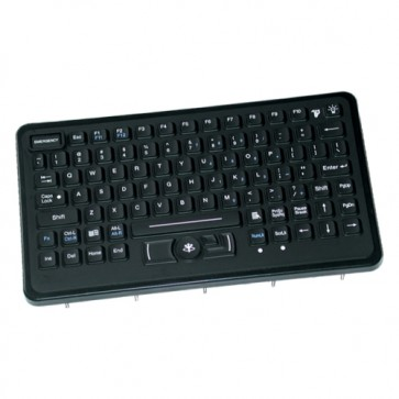 iKey | SLP-86-911-461 - Panel Mount Military Keyboard with with Integrated HulaPoint and Emergency Key