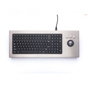 iKey | DT-2000-TB - Desktop Stainless Steel Keyboard with Trackball