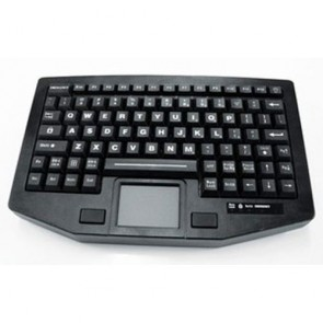 iKey | FT-88-911-TP - Full Travel 88 key Compact Red backlit Keyboard with Touchpad