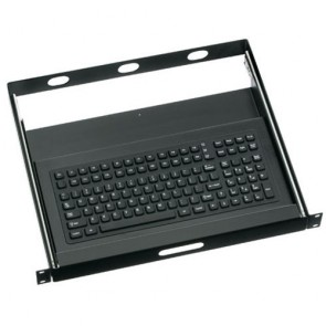 "iKey | RDC-1000 - 19"" Rackdrawer with Full Size Industrial Keyboard"