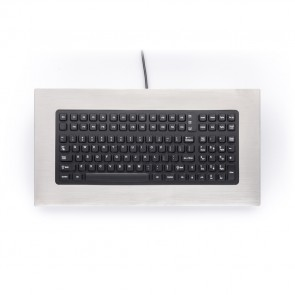 iKey | PM-1000 - Industrial Panel Mount Keyboard with Stainless Steel Bezel