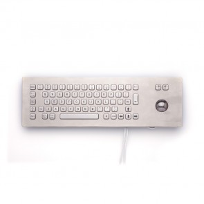 iKey   PM-65-TB-SS - Stainless Steel  Panel Mount Keyboard with Trackball