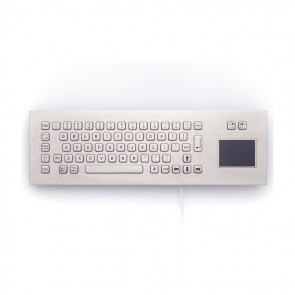 iKey   PM-65-TP-SS - Stainless Steel  Panel Mount Keyboard with Touchpad