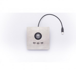 iKey | PM-TB - Panel Mount Trackball with Stainless Steel Bezel